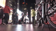4K - Selfie Tourists in Time Square NYC video