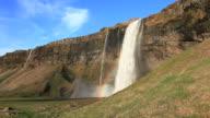 Seljalandsfoss waterfall video Iceland HD 1080 video
