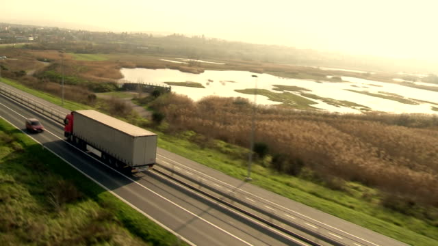 HA TS Semi-Trailer Truck Driving On The Road video