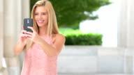 Sending a selfie message video