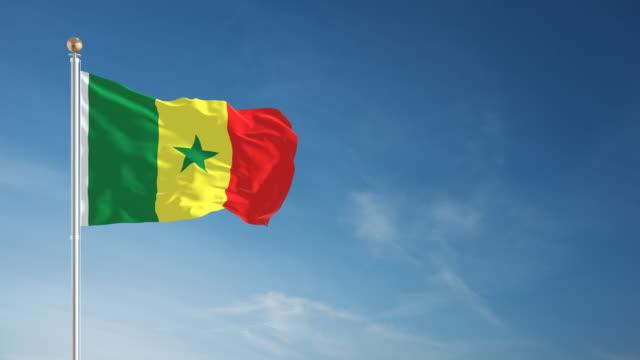 4K Senegal Flag - Loopable video