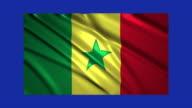 Senegal flag waving,loopable on blue screen video