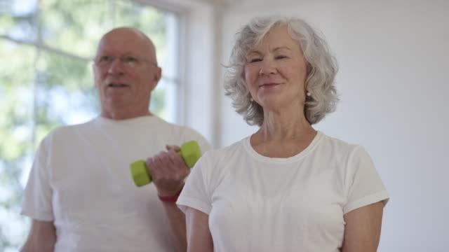 Senior Adults Exercising video