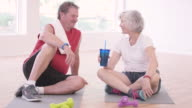 Senior Adults Relaxing After a Big Workout video