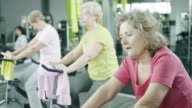 Senior Adults Taking Spin Class video