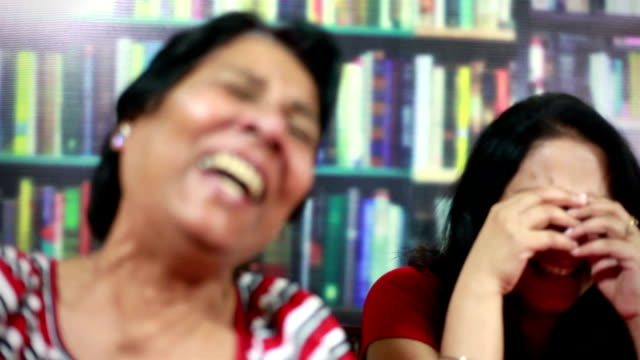 Senior Asian Indian and Young Woman Laughing like crazy video