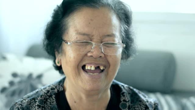 Senior Asian Woman Smile video