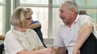 HD DOLLY: Senior Couple Enjoying A Conversation video