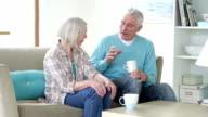 Senior Couple Having a Chat video