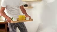 HD DOLLY: Senior Couple Having Breakfast video