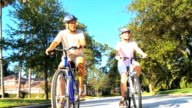 Senior Couple Healthy Cycling Lifestyle video