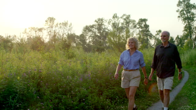 Senior Couple Hiking video