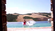 Senior Couple Making a Big Splash in Italy! video