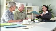 HD DOLLY: Senior Couple Making A Financial Plan video