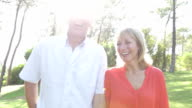 Senior Couple On Country Walk Together video