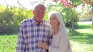 Senior Couple On Romantic Walk In Countryside Together video