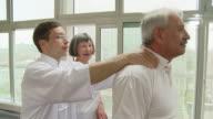 HD: Senior Couple Practicing Massage Techniques video