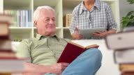 HD DOLLY: Senior Couple Using Tablet Computer video