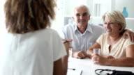 Senior Couple Visit Doctors Office. video