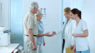 Senior couple visiting their family physician video