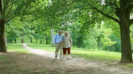 Senior Couple Walk in the Park video