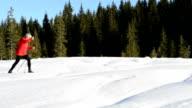 Senior Cross country skiing video