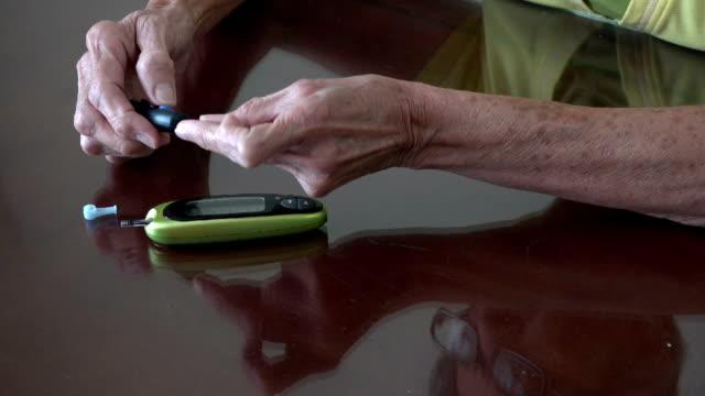 Senior diabetic woman video