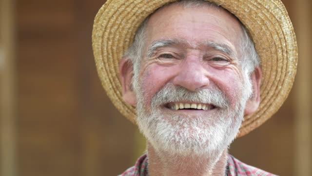 Senior Farmer smiling video