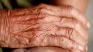 Senior female hands video