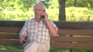 Senior guy on the phone. video