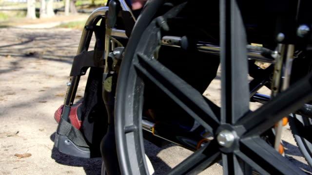 Senior in wheelchair video