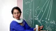 Senior Indian Teacher Teaching Geography video