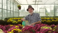 Senior male florist video
