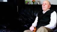 Senior man alone video