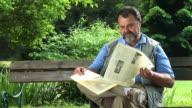 HD: Senior man in the park video
