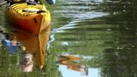 Senior Man Kayaking in Nature video