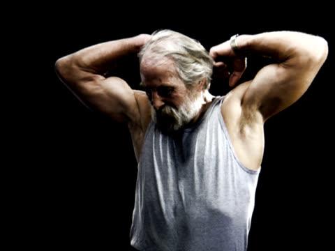 PAL - Senior Man Warming Up Slomo video
