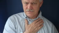 senior man with chest pain video
