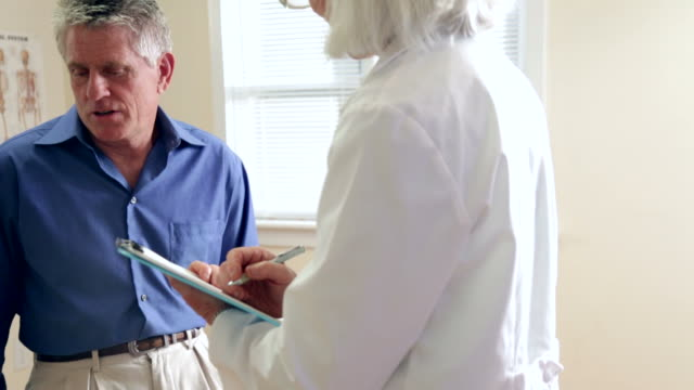 Senior Man's Doctor Visit video