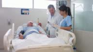 Senior patient at the ICU video