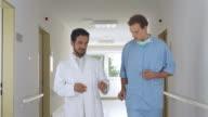 HD: Senior Surgeon Talking With Anesthetist video