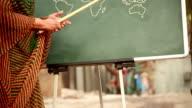 Senior Volunteer Indian woman teaching Rural Children video