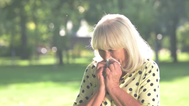 Senior woman is crying. video