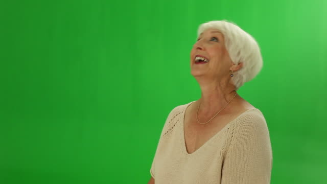 Senior woman laughing video
