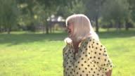 Senior woman laughing. video