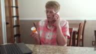 Senior Woman Searching Medicine video