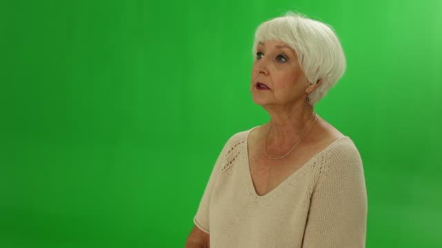 Senior woman telling sad story video