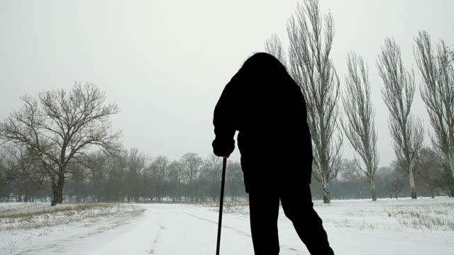 Senior Woman Walking Away video