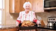 Senior woman with turkey video