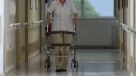 HD: Senior Woman With Wheeled Walker video